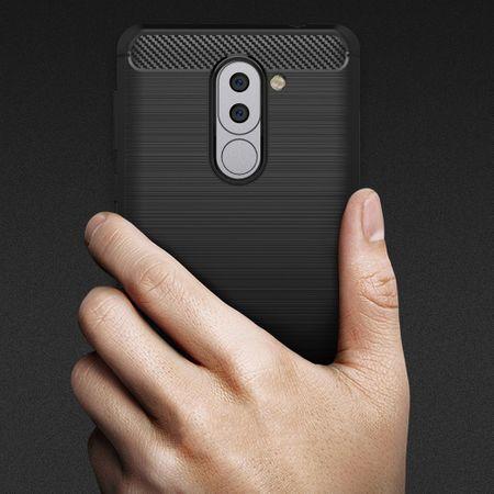 Huawei Honor 6X TPU Case Carbon Fiber Optik Brushed Schutz Hülle Schwarz – Bild 9