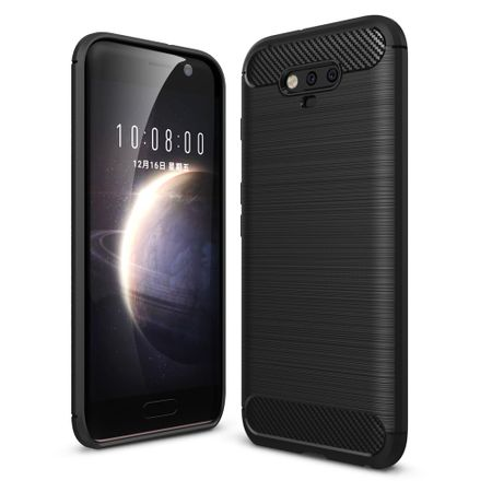 Huawei Honor Magic TPU Case Carbon Fiber Optik Brushed Schutz Hülle Schwarz