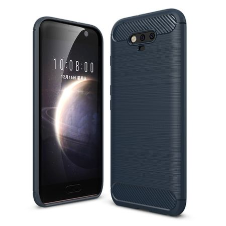 Huawei Honor Magic TPU Case Carbon Fiber Optik Brushed Schutz Hülle Blau