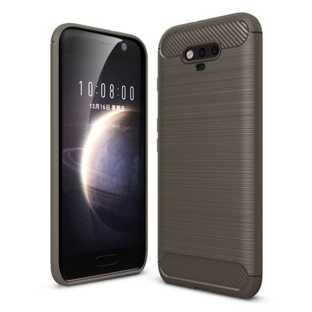 Huawei Honor Magic TPU Case Carbon Fiber Optik Brushed Schutz Hülle Grau