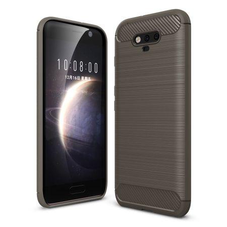 Huawei Honor Magic TPU Case Carbon Fiber Optik Brushed Schutz Hülle Grau – Bild 1