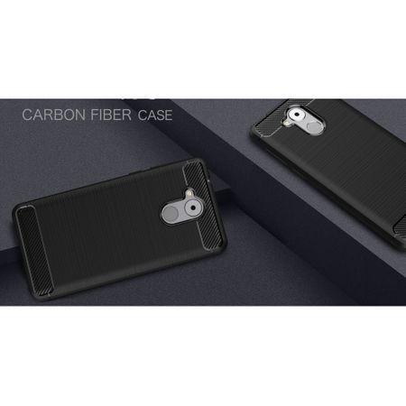 Huawei Enjoy 6s TPU Case Carbon Fiber Optik Brushed Schutz Hülle Blau – Bild 3