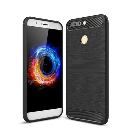 Huawei Honor Note 8 Pro TPU Case Carbon Fiber Optik Brushed Schutz Hülle Schwarz
