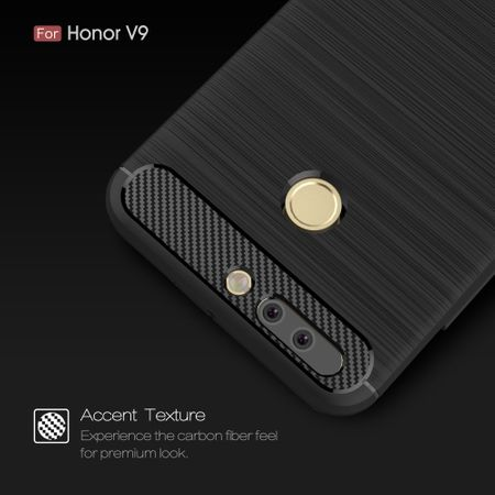 Huawei Honor Note 8 Pro TPU Case Carbon Fiber Optik Brushed Schutz Hülle Schwarz – Bild 4