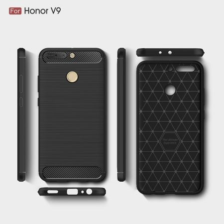 Huawei Honor Note 8 Pro TPU Case Carbon Fiber Optik Brushed Schutz Hülle Schwarz – Bild 8