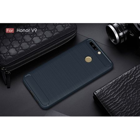 Huawei Honor Note 8 Pro TPU Case Carbon Fiber Optik Brushed Schutz Hülle Blau – Bild 2