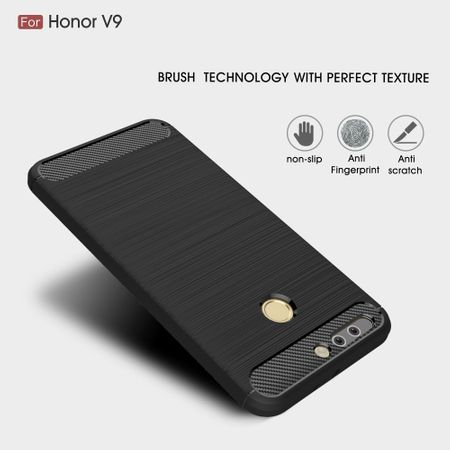 Huawei Honor Note 8 Pro TPU Case Carbon Fiber Optik Brushed Schutz Hülle Grau – Bild 3