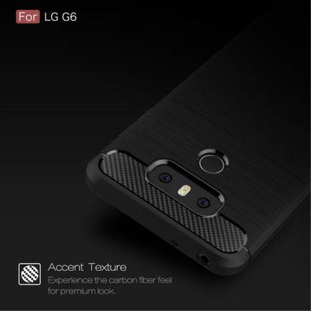 LG G6 TPU Case Carbon Fiber Optik Brushed Schutz Hülle Schwarz – Bild 5