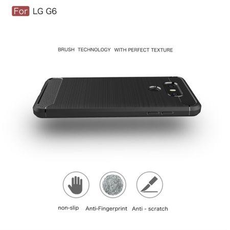 LG G6 TPU Case Carbon Fiber Optik Brushed Schutz Hülle Blau – Bild 5