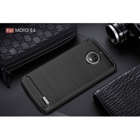 Motorola Moto E4 TPU Case Carbon Fiber Optik Brushed Schutz Hülle Schwarz – Bild 10