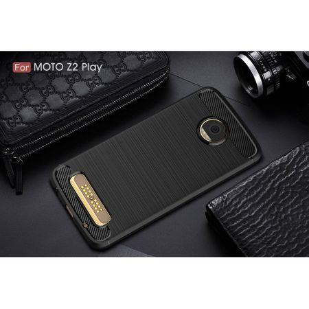 Motorola Moto Z2 Play TPU Case Carbon Fiber Optik Brushed Schutz Hülle Schwarz – Bild 10