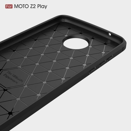 Motorola Moto Z2 Play TPU Case Carbon Fiber Optik Brushed Schutz Hülle Blau – Bild 6