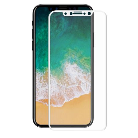 Apple iPhone X 3D Panzer Glas Folie Display Schutzfolie Hüllen Case Weiß