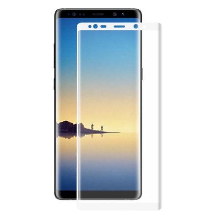 Samsung Galaxy Note 8 3D Panzer Glas Folie Display Schutzfolie Hüllen Case Weiß