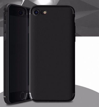 Apple iPhone 8 Plus Handyhülle Bumper Case Schwarz Silikon Hülle