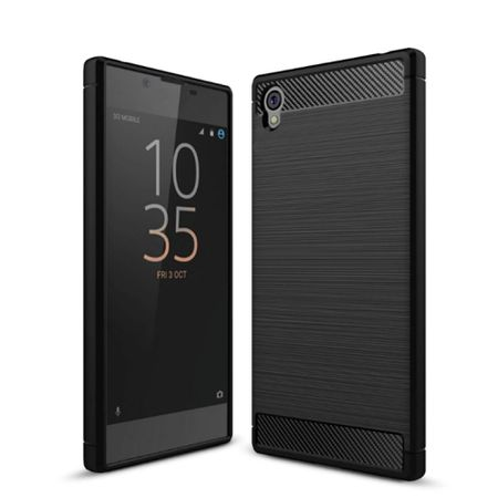 Sony Xperia L1 TPU Case Carbon Fiber Optik Brushed Schutz Hülle Schwarz