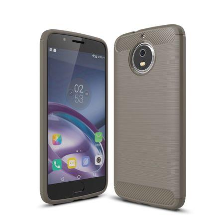 Motorola Moto G5S TPU Case Carbon Fiber Optik Brushed Schutz Hülle Grau