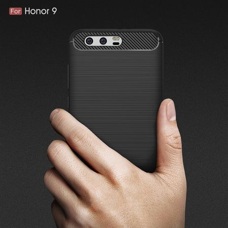 Huawei Honor 9 TPU Case Carbon Fiber Optik Brushed Schutz Hülle Grau – Bild 8