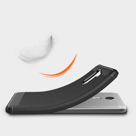 Huawei Y7 Prime TPU Case Carbon Fiber Optik Brushed Schutz Hülle Grau – Bild 3