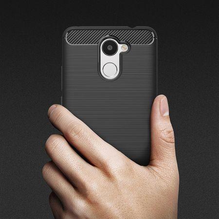 Huawei Y7 Prime TPU Case Carbon Fiber Optik Brushed Schutz Hülle Schwarz – Bild 10