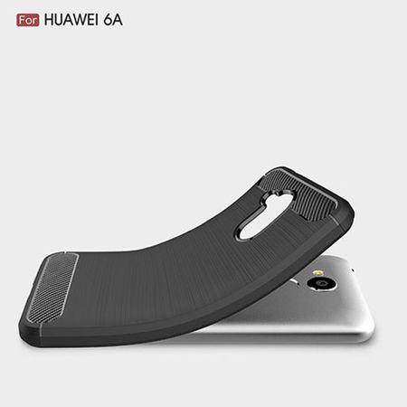 Huawei Honor 6A Pro TPU Case Carbon Fiber Optik Brushed Schutz Hülle Grau – Bild 2