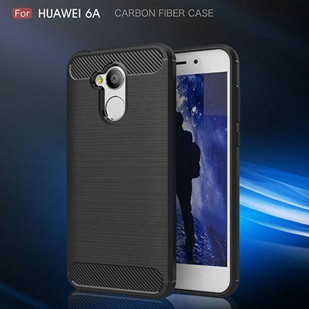 Huawei Honor 6A Pro TPU Case Carbon Fiber Optik Brushed Schutz Hülle Grau – Bild 8