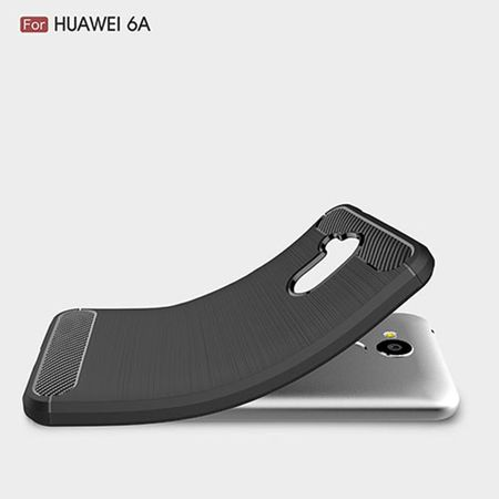 Huawei Honor 6A Pro TPU Case Carbon Fiber Optik Brushed Schutz Hülle Blau – Bild 2