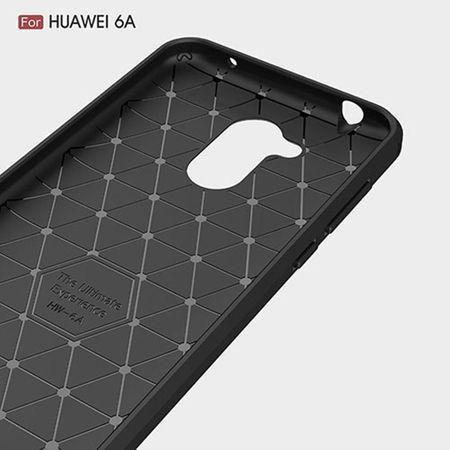 Huawei Honor 6A Pro TPU Case Carbon Fiber Optik Brushed Schutz Hülle Blau – Bild 5
