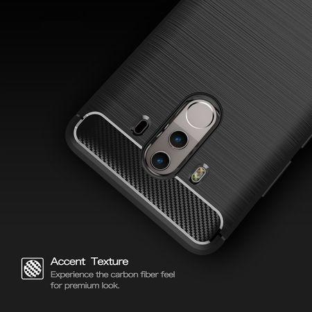 Huawei Mate 10 Pro TPU Case Carbon Fiber Optik Brushed Schutz Hülle Grau – Bild 7