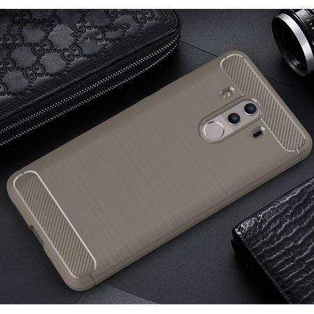 Huawei Mate 10 Pro TPU Case Carbon Fiber Optik Brushed Schutz Hülle Grau – Bild 9