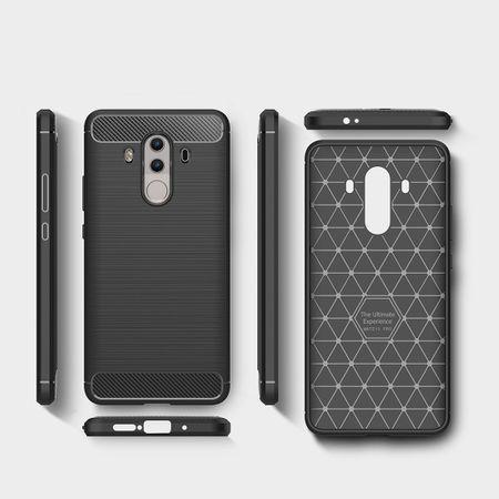Huawei Mate 10 Pro TPU Case Carbon Fiber Optik Brushed Schutz Hülle Schwarz – Bild 6