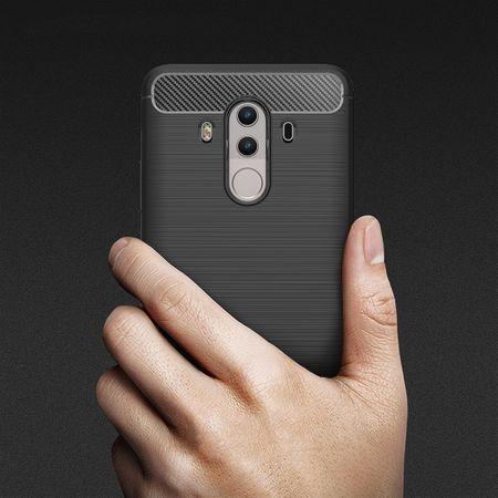 Huawei Mate 10 Pro TPU Case Carbon Fiber Optik Brushed Schutz Hülle Schwarz – Bild 8