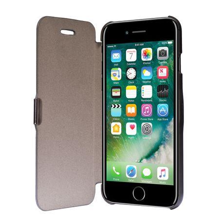 Flip Cover Schutzhülle Case Handyhülle Bookstyle für Apple iPhone 7 Grau
