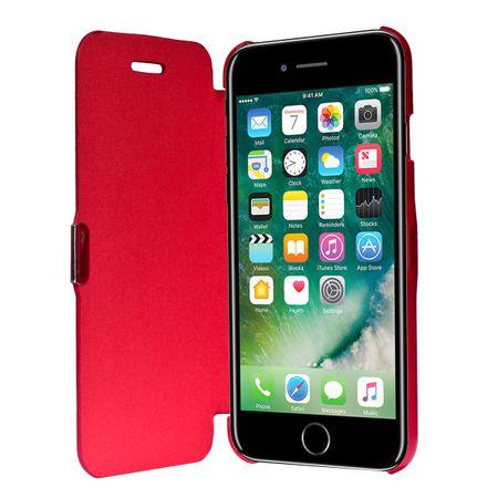Flip Cover Schutzhülle Case Handyhülle Bookstyle für Apple iPhone 7 Rot
