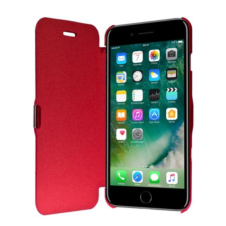 Flip Cover Schutzhülle Case Handyhülle Bookstyle für Apple iPhone 7 Plus Rot