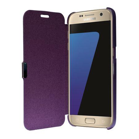 Flip Cover Schutzhülle Case Handyhülle Bookstyle für Samsung Galaxy S7 Violett