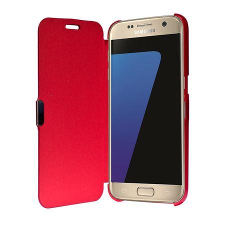 Flip Cover Schutzhülle Case Handyhülle Bookstyle für Samsung Galaxy S7 Edge Rot