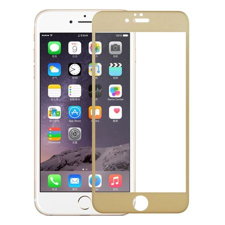 Apple iPhone 6 / 6s 3D Panzer Glas Folie Display 9H Schutzfolie Hüllen Case Gold