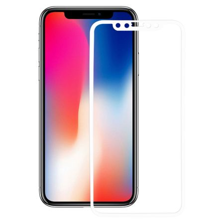 Apple iPhone X 3D Panzer Glas Folie Display 9H Schutzfolie Hüllen Case Weiß