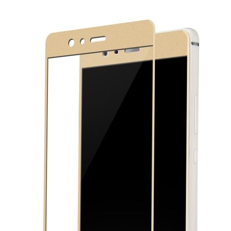 Huawei Enjoy 7 3D Panzer Glas Folie Display 9H Schutzfolie Hüllen Case Gold – Bild 2