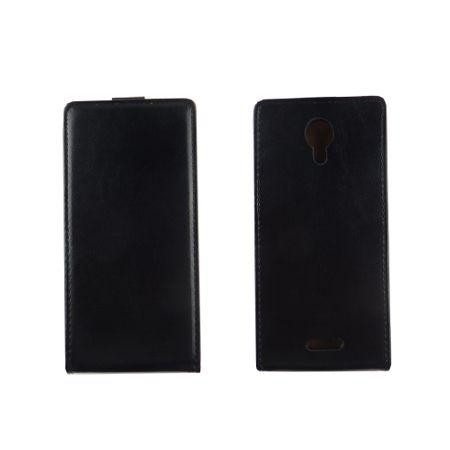 Handyhülle Tasche Flip für Wiko Jerry 2 Schwarz – Bild 2