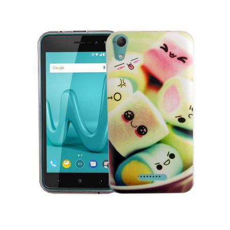 Handy Hülle für Wiko Lenny 4 Marshmallows Smartphone Cover Bumper Schale Etuis