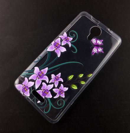 Handy Hülle für Wiko Jerry 2 Lotusblume Smartphone Cover Bumper Schale Etuis