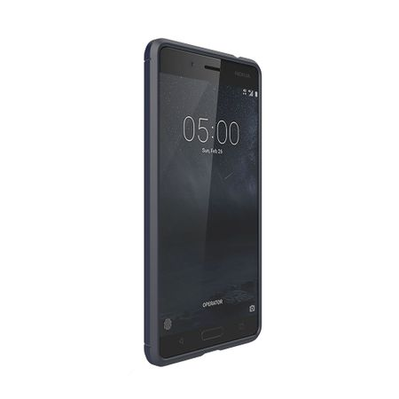 Nokia 5 TPU Case Carbon Fiber Optik Brushed Schutz Hülle Blau – Bild 2
