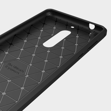 Nokia 5 TPU Case Carbon Fiber Optik Brushed Schutz Hülle Blau – Bild 5