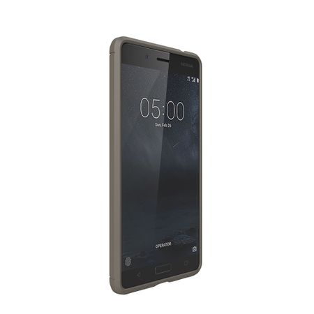 Nokia 5 TPU Case Carbon Fiber Optik Brushed Schutz Hülle Grau – Bild 2