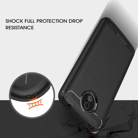 Motorola Moto C TPU Case Carbon Fiber Optik Brushed Schutz Hülle Schwarz – Bild 8