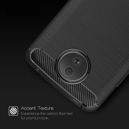 Motorola Moto C TPU Case Carbon Fiber Optik Brushed Schutz Hülle Grau – Bild 7