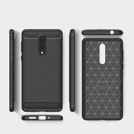 Nokia 8 TPU Case Carbon Fiber Optik Brushed Schutz Hülle Grau – Bild 7