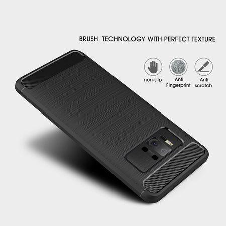 Asus Zenfone AR ZS571KL TPU Case Carbon Fiber Optik Brushed Schutz Hülle Blau – Bild 6